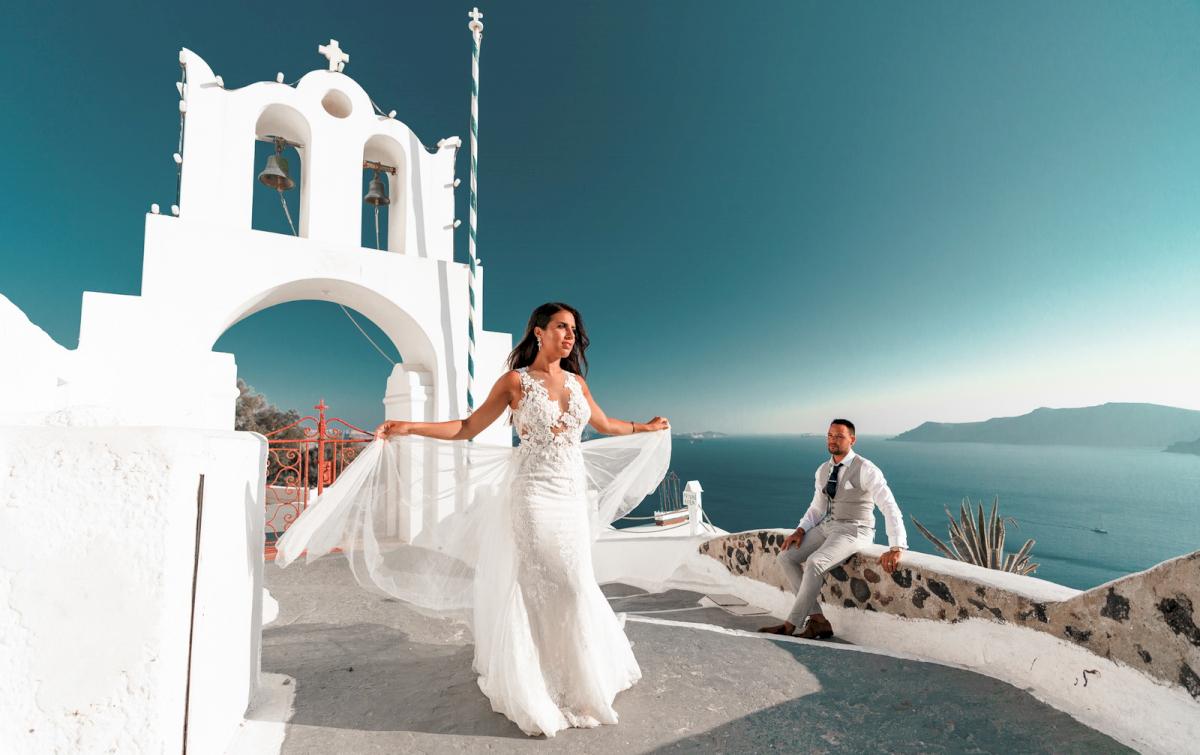 Яна и Рафаэль: свадьба на санторини, свадебное агентство Julia Veselova - Фото 11