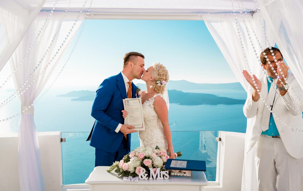 Екатерина и Андрей: свадьба на санторини, свадебное агентство Julia Veselova - Фото 3