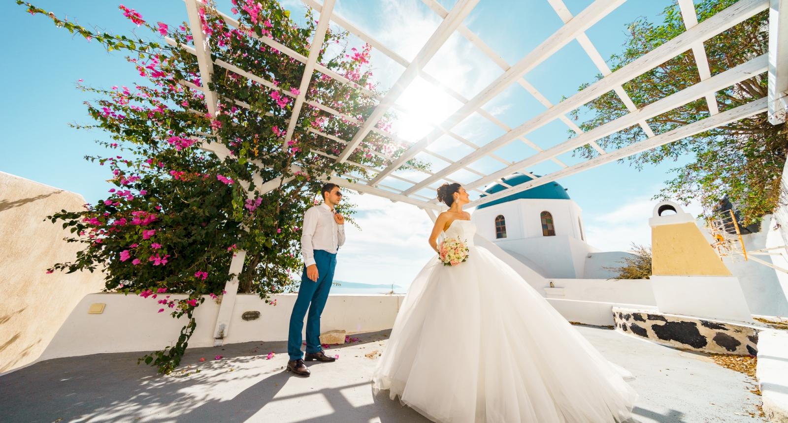 Яна и Денис: свадьба на санторини, свадебное агентство Julia Veselova - Фото 7