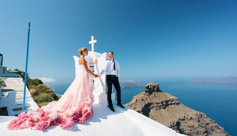 Инна и Сергей: свадьба на санторини, свадебное агентство Julia Veselova - Фото 14