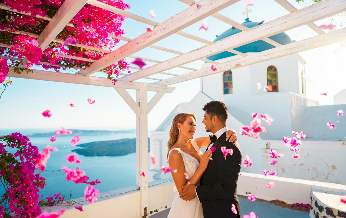 Фредди и Маргарет: свадьба на санторини, свадебное агентство Julia Veselova - Фото 13
