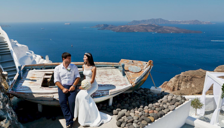 Зарина и Ованес: свадьба на санторини, свадебное агентство Julia Veselova - Фото 12