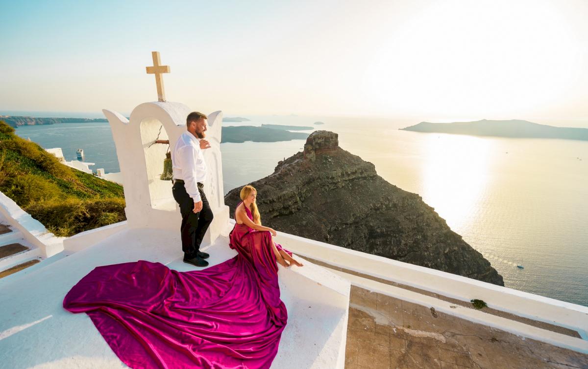 Елена и Виталик: свадьба на санторини, свадебное агентство Julia Veselova - Фото 7