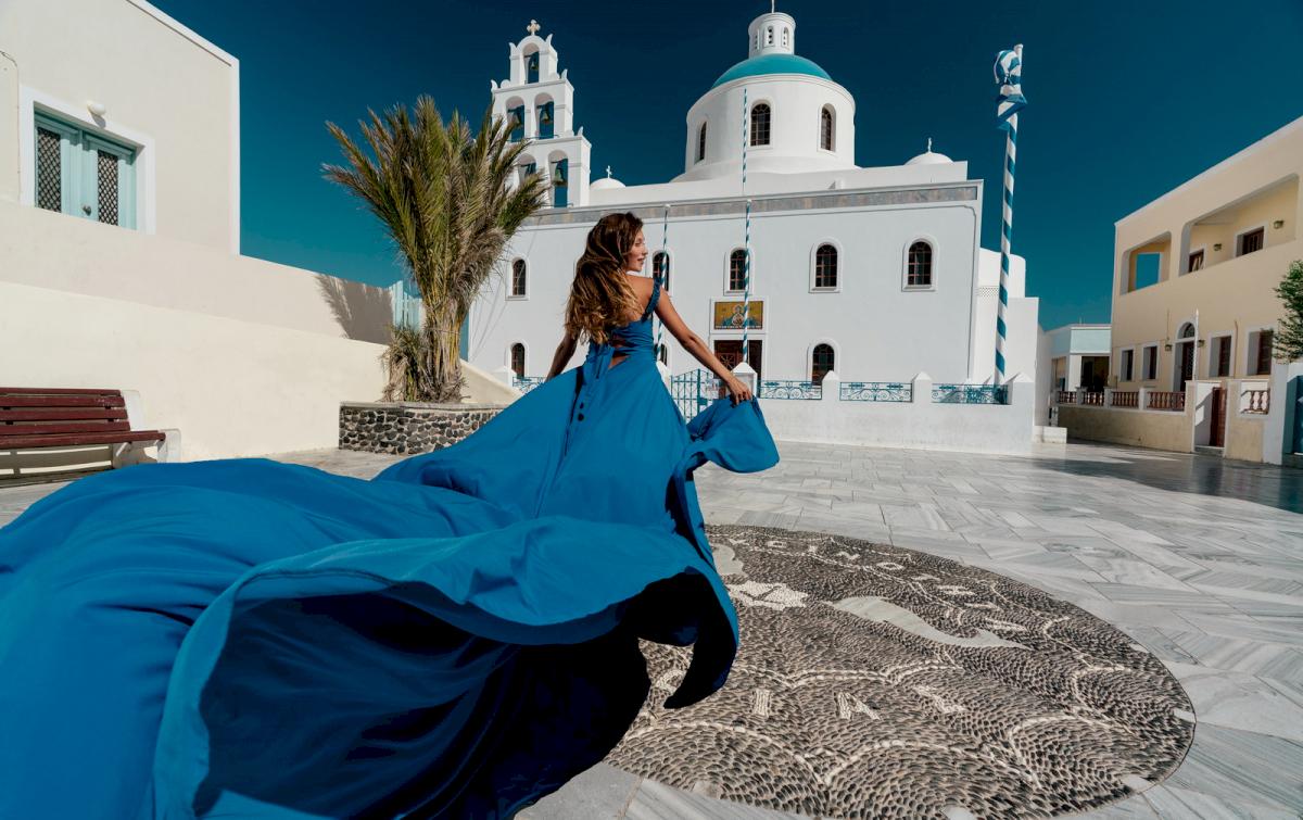 Регина Тодоренко: свадьба на санторини, свадебное агентство Julia Veselova - Фото 1