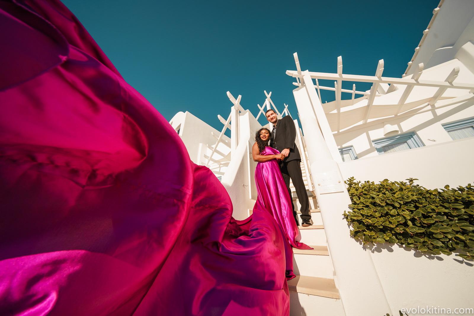 Amaka Sam: свадьба на санторини, свадебное агентство Julia Veselova - Фото 10