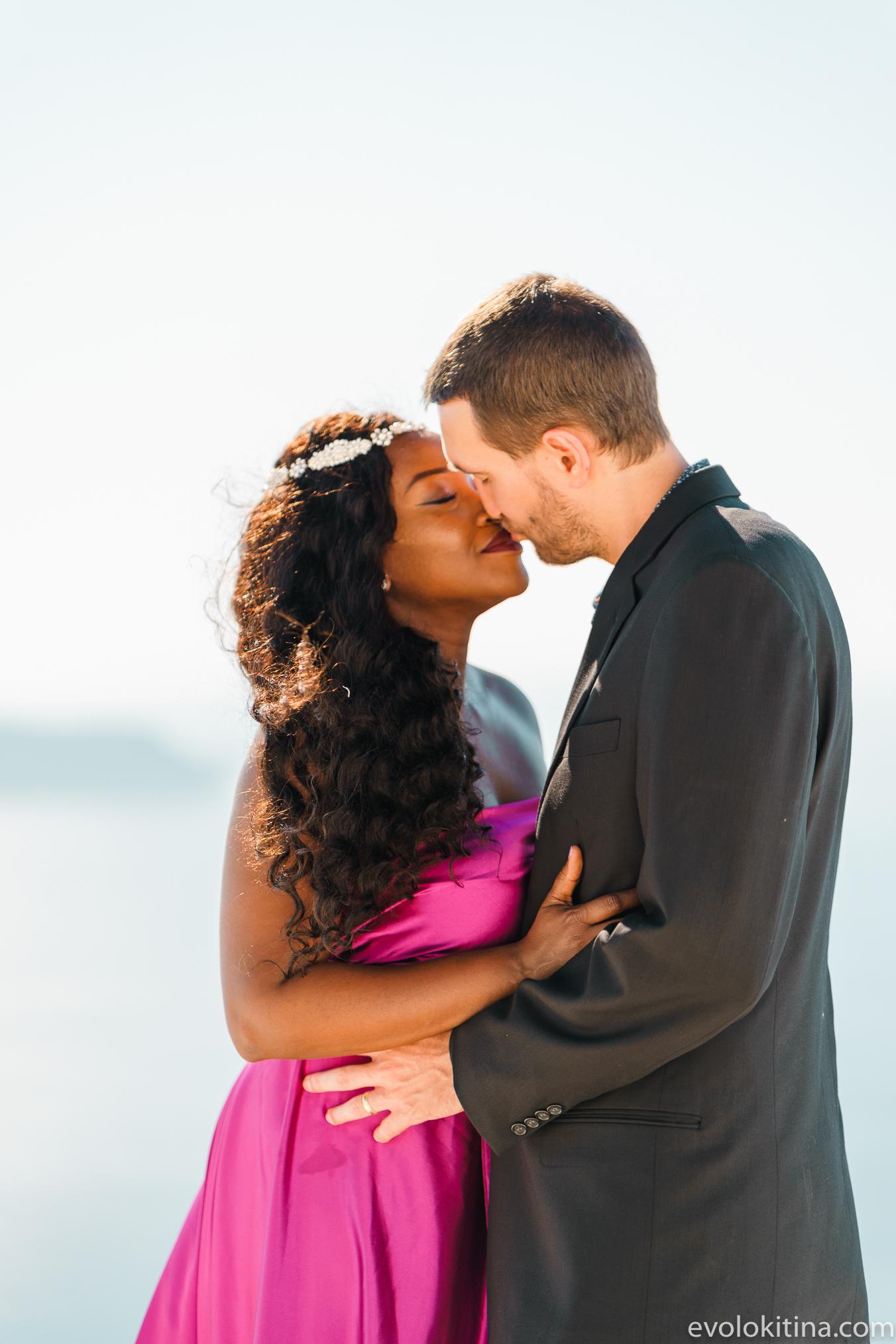 Amaka Sam: свадьба на санторини, свадебное агентство Julia Veselova - Фото 16