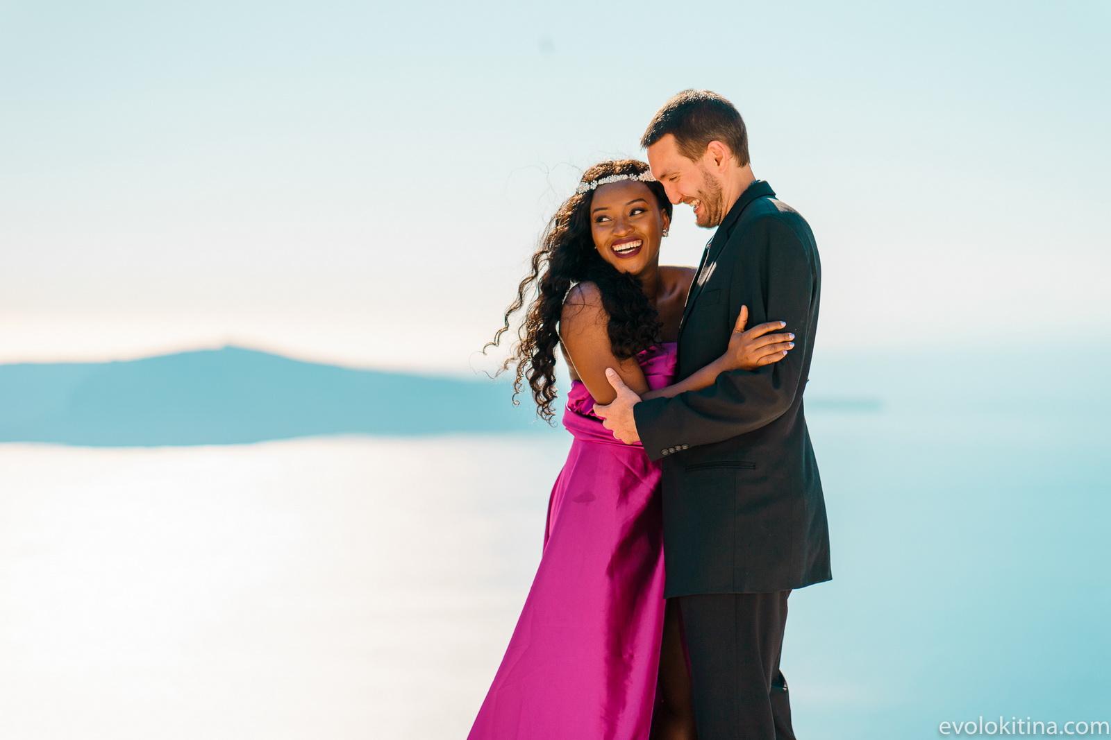 Amaka Sam: свадьба на санторини, свадебное агентство Julia Veselova - Фото 17