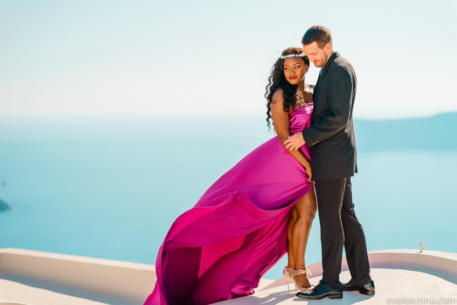Amaka Sam: свадьба на санторини, свадебное агентство Julia Veselova - Фото 18