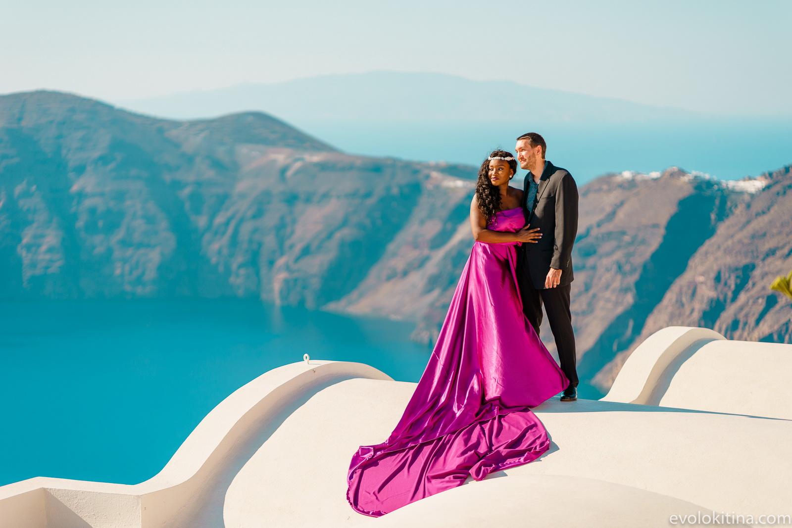 Amaka Sam: свадьба на санторини, свадебное агентство Julia Veselova - Фото 19