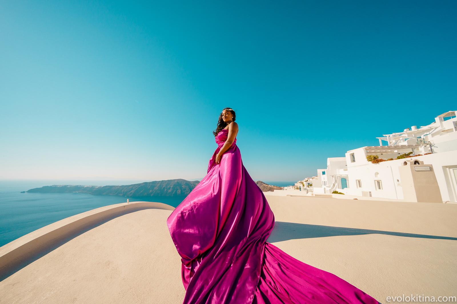 Amaka Sam: свадьба на санторини, свадебное агентство Julia Veselova - Фото 20
