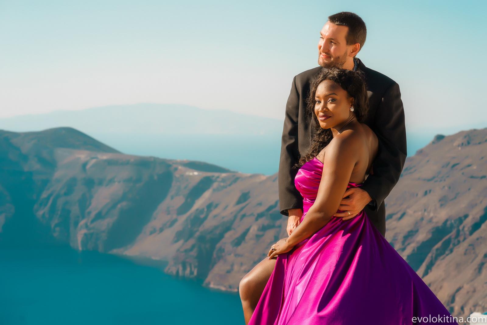 Amaka Sam: свадьба на санторини, свадебное агентство Julia Veselova - Фото 9