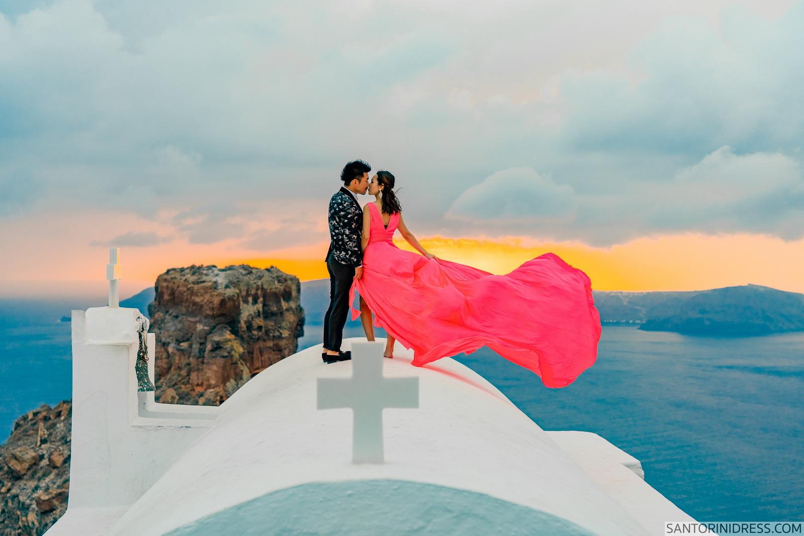 Lu Ning: свадьба на санторини, свадебное агентство Julia Veselova - Фото 3