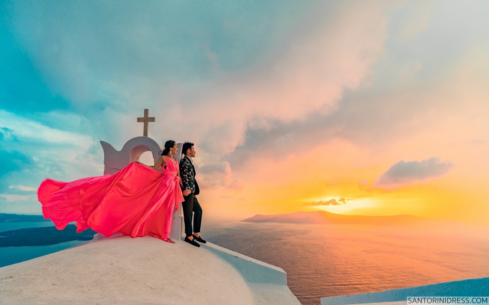 Lu Ning: свадьба на санторини, свадебное агентство Julia Veselova - Фото 4