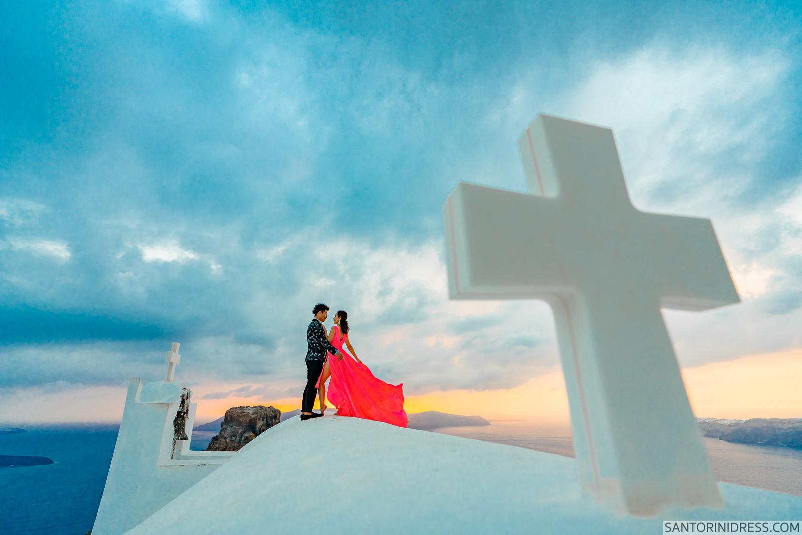 Lu Ning: свадьба на санторини, свадебное агентство Julia Veselova - Фото 5