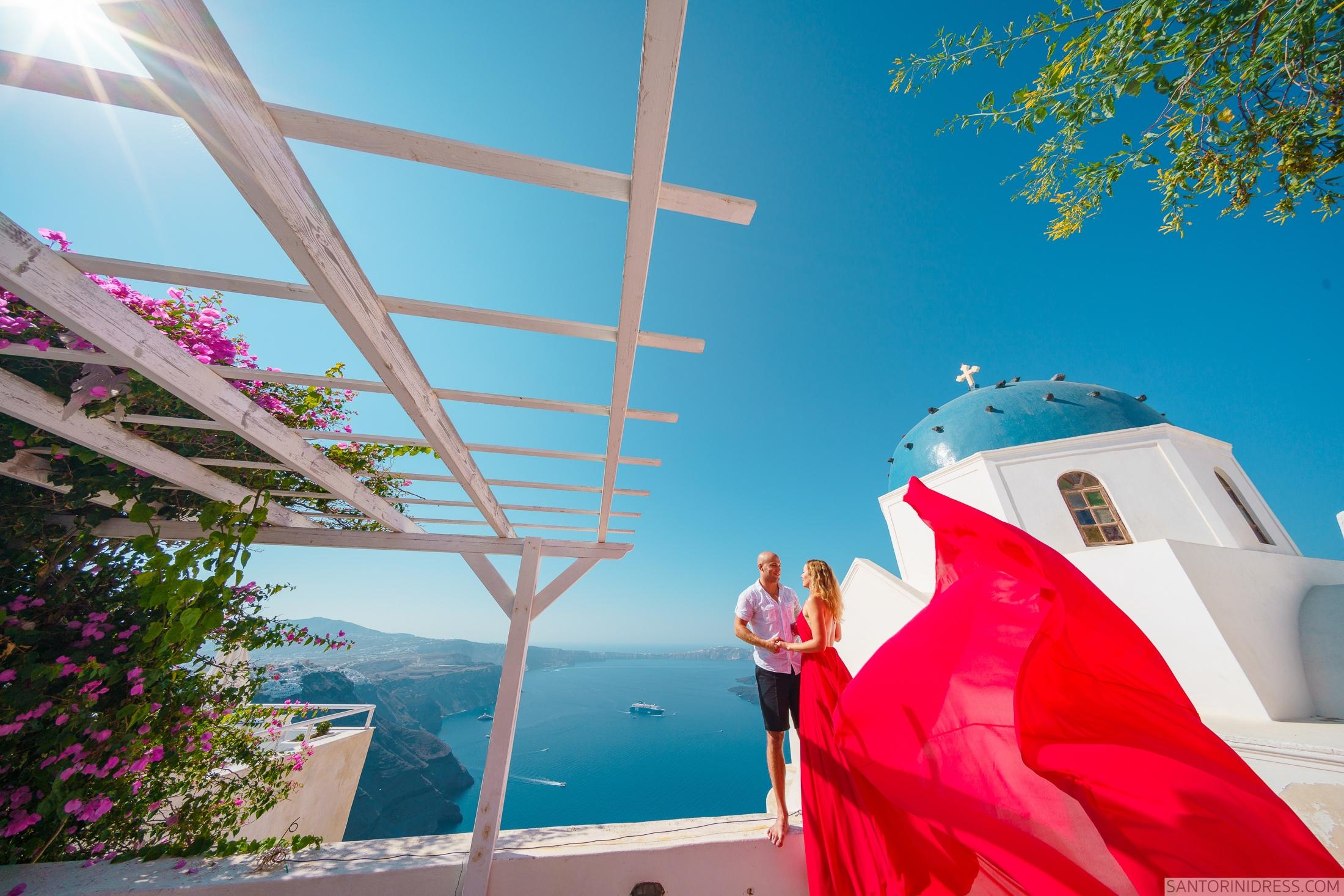 Милана и Антон: свадьба на санторини, свадебное агентство Julia Veselova - Фото 1