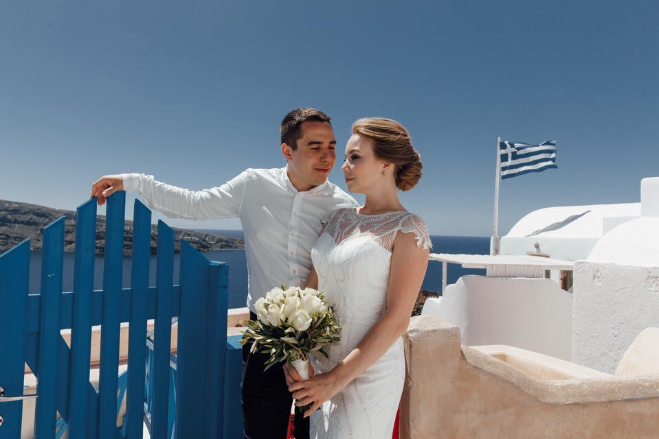 Анастасия и  Алексей: свадьба на санторини, свадебное агентство Julia Veselova - Фото 2