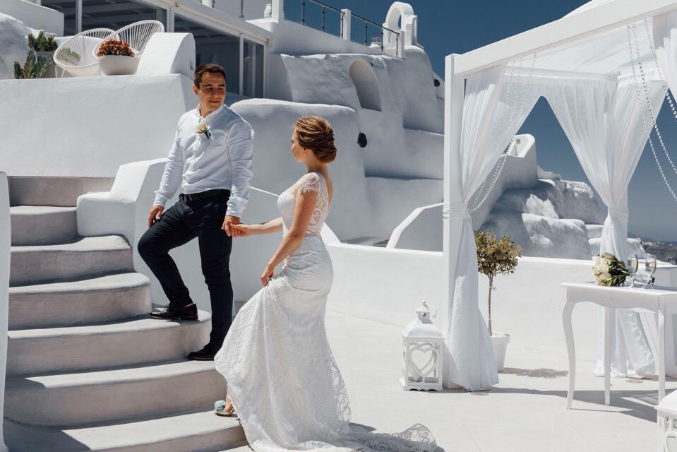 Анастасия и  Алексей: свадьба на санторини, свадебное агентство Julia Veselova - Фото 1