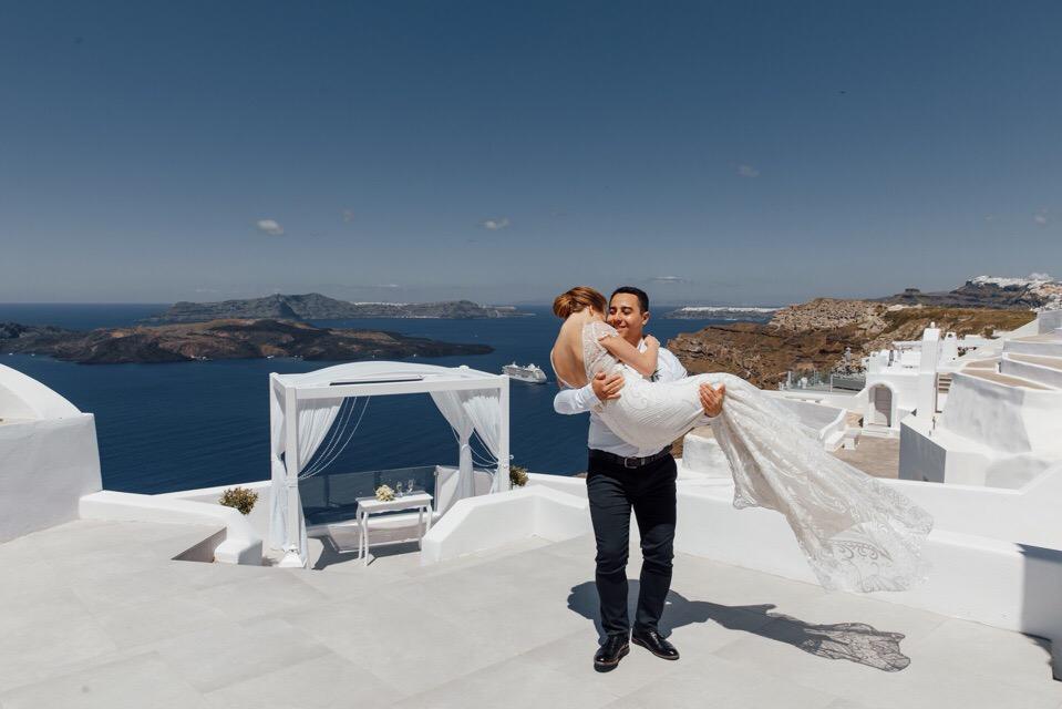 Анастасия и  Алексей: свадьба на санторини, свадебное агентство Julia Veselova - Фото 6