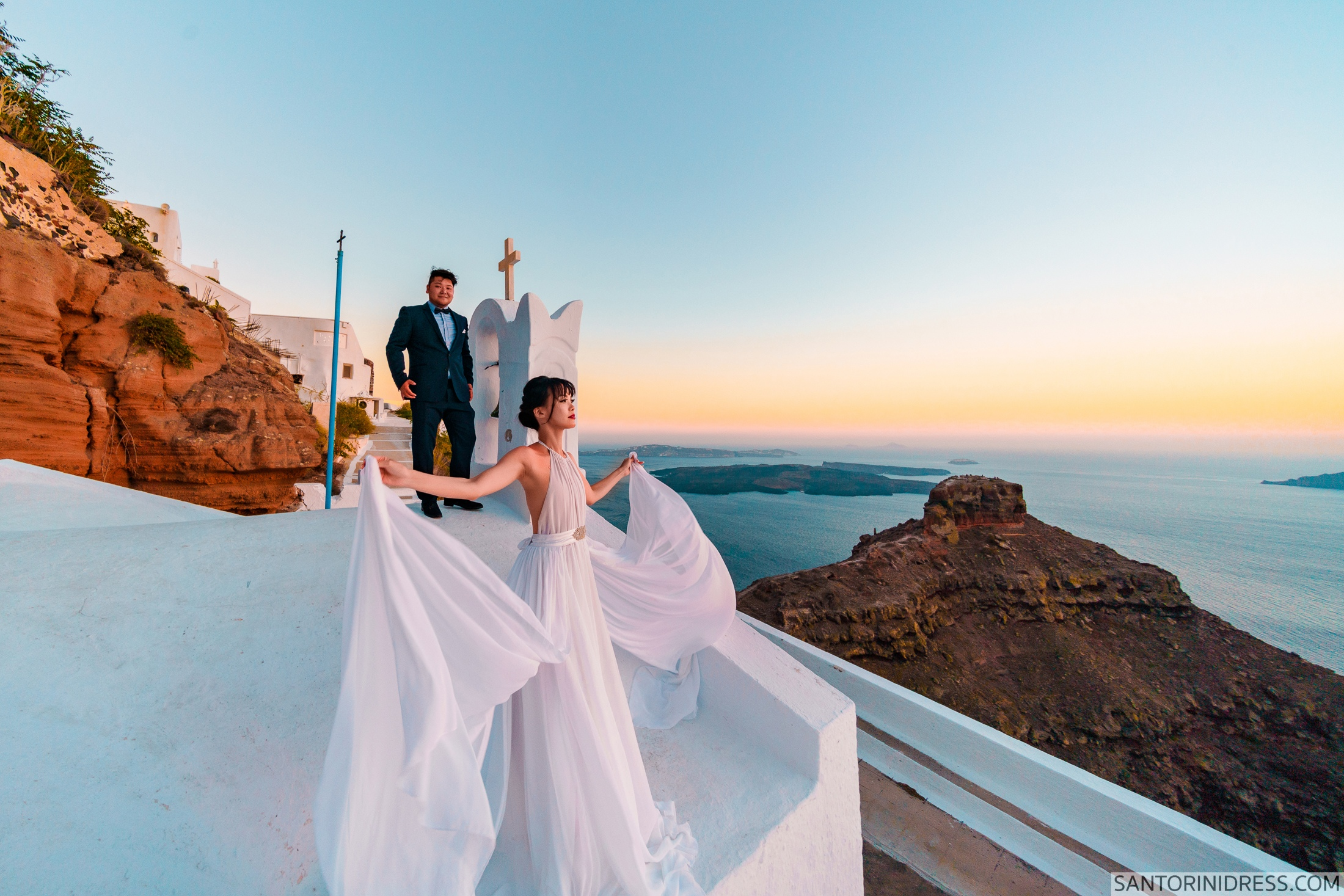 Миу и Чонг: свадьба на санторини, свадебное агентство Julia Veselova - Фото 7