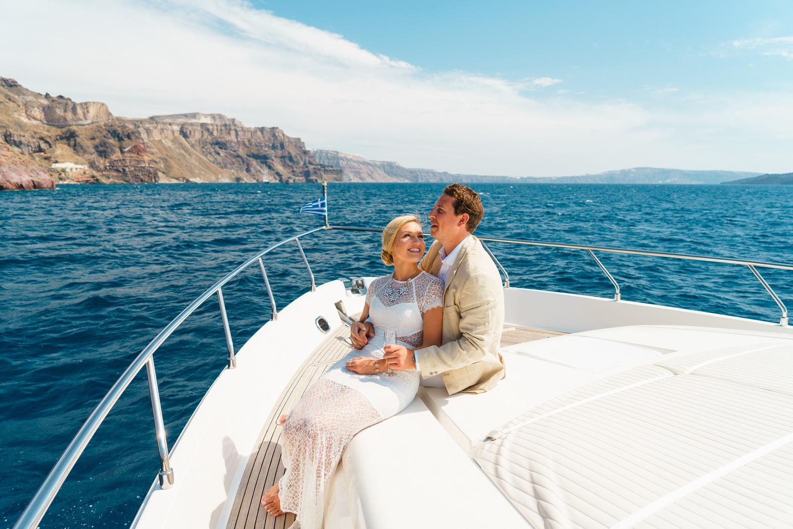 Аренда яхты: свадьба на санторини, свадебное агентство Julia Veselova - Фото 4
