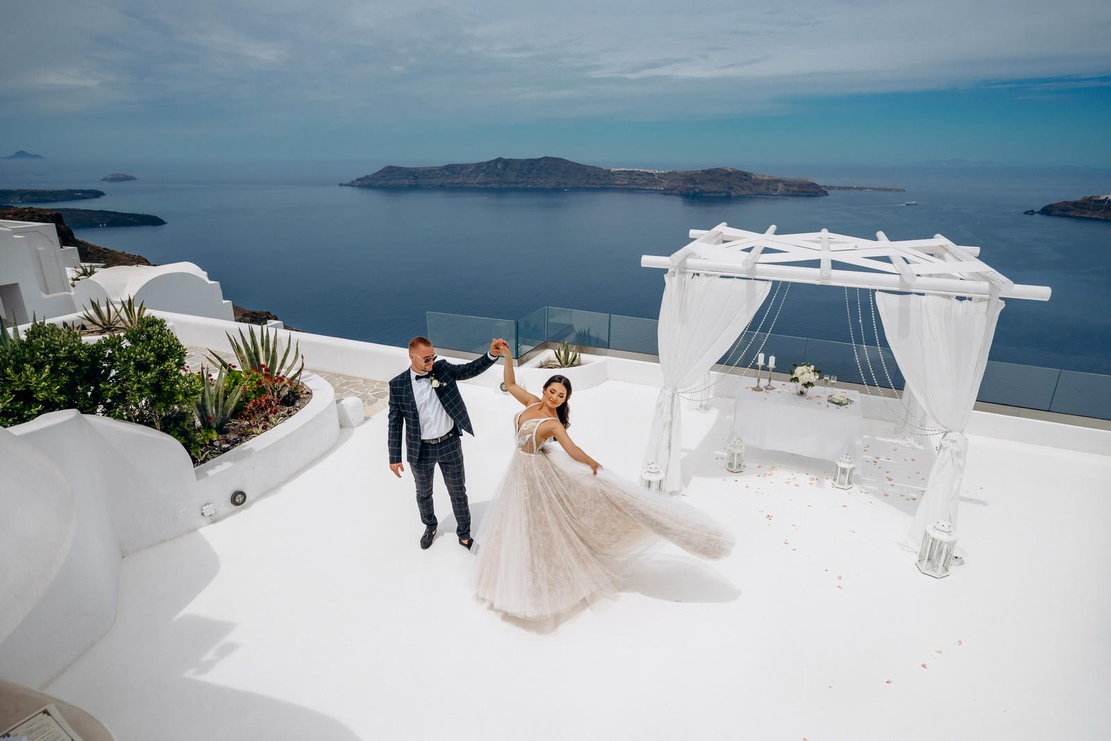 Александра и Евгений: свадьба на санторини, свадебное агентство Julia Veselova - Фото 12