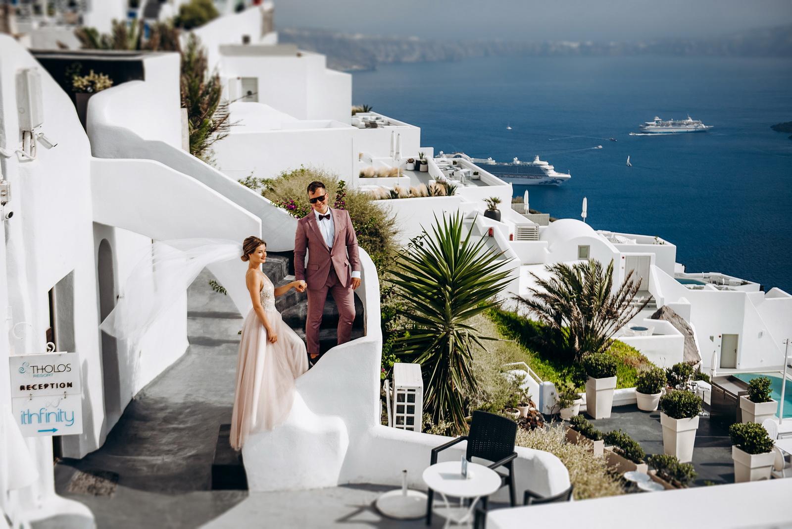 Лилия и Михаил: свадьба на санторини, свадебное агентство Julia Veselova - Фото 5