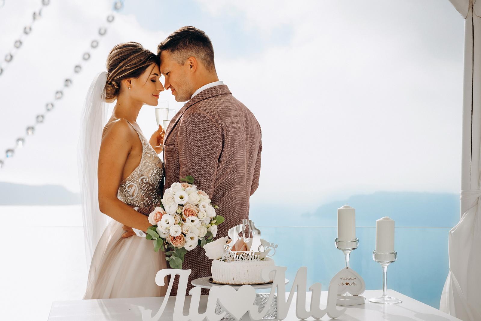 Лилия и Михаил: свадьба на санторини, свадебное агентство Julia Veselova - Фото 8