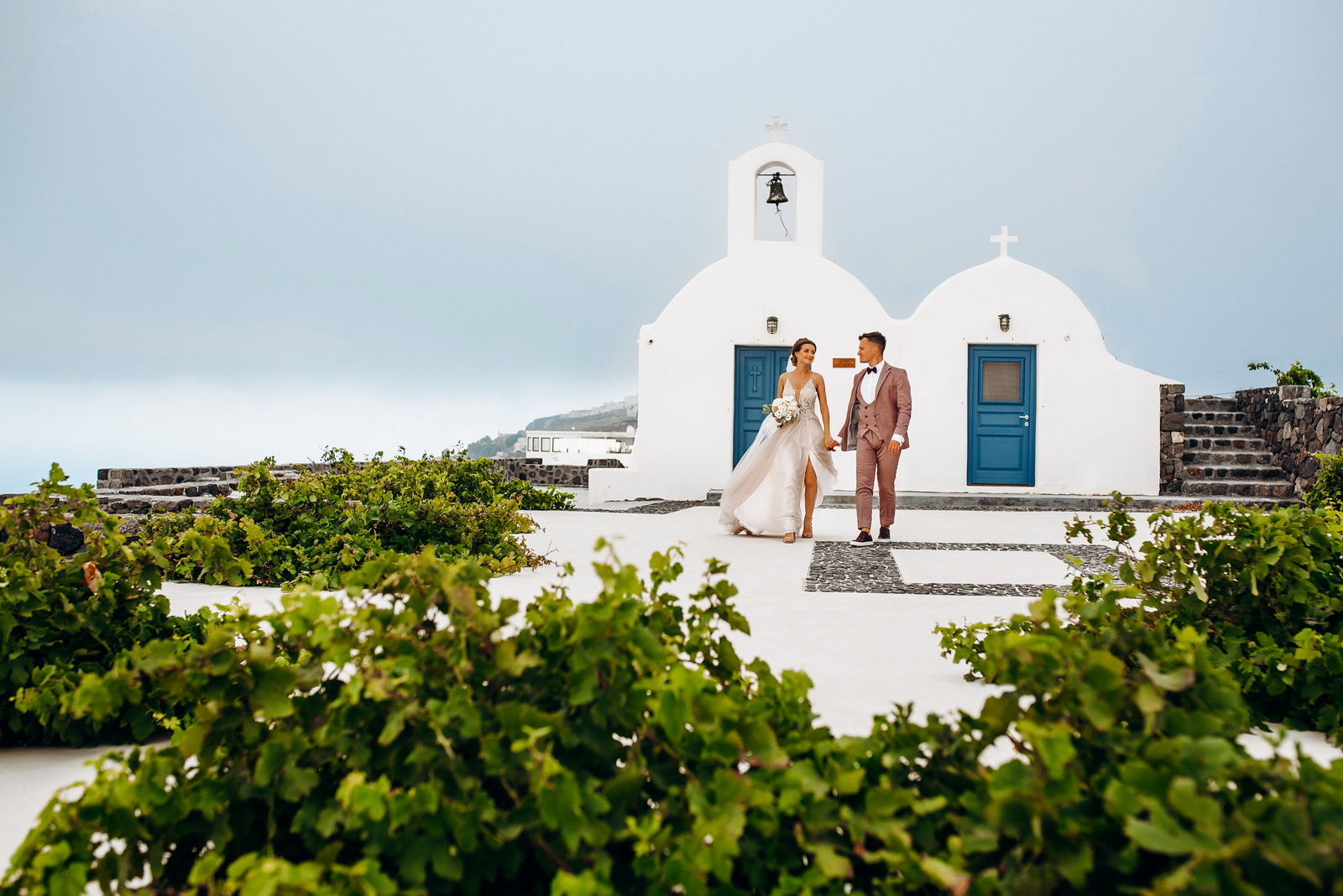 Лилия и Михаил: свадьба на санторини, свадебное агентство Julia Veselova - Фото 9