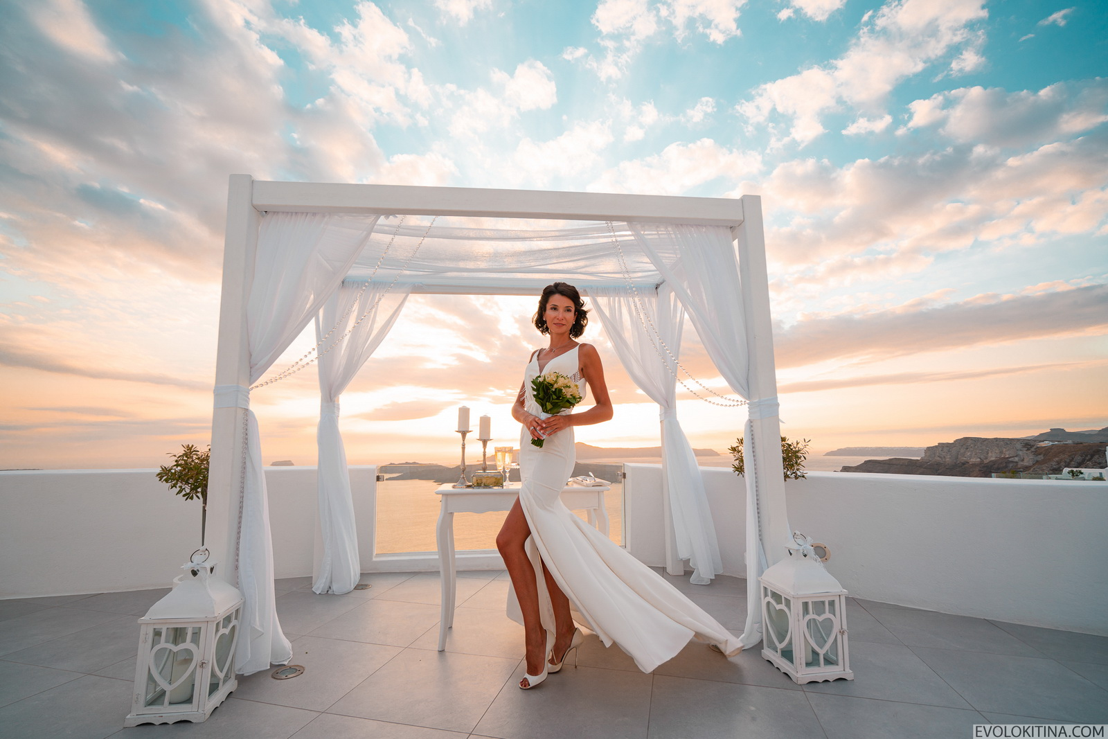 Александра и Роман: свадьба на санторини, свадебное агентство Julia Veselova - Фото 8