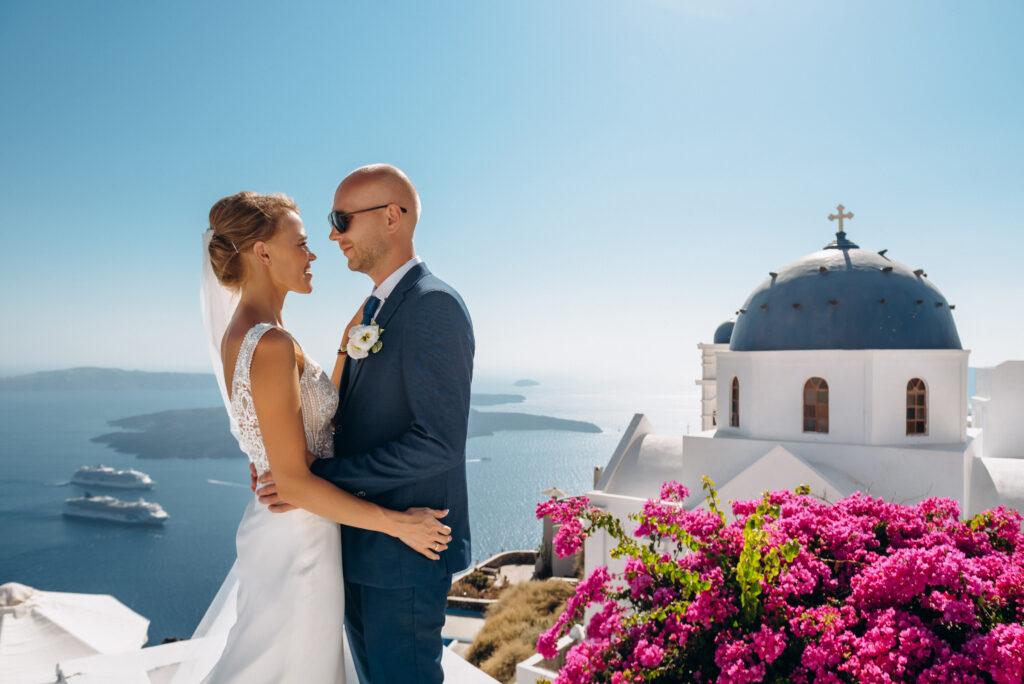 Ира и Максим: свадьба на санторини, свадебное агентство Julia Veselova