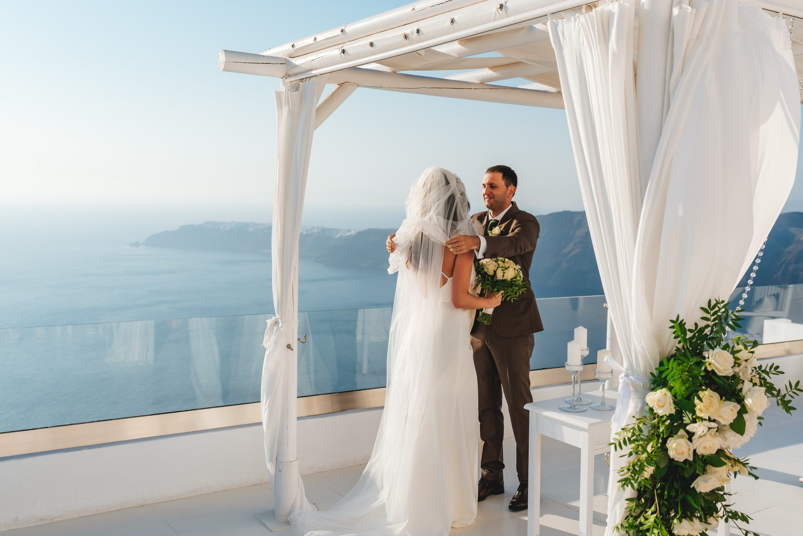 Анастасия и Сурен: свадьба на санторини, свадебное агентство Julia Veselova - Фото 23