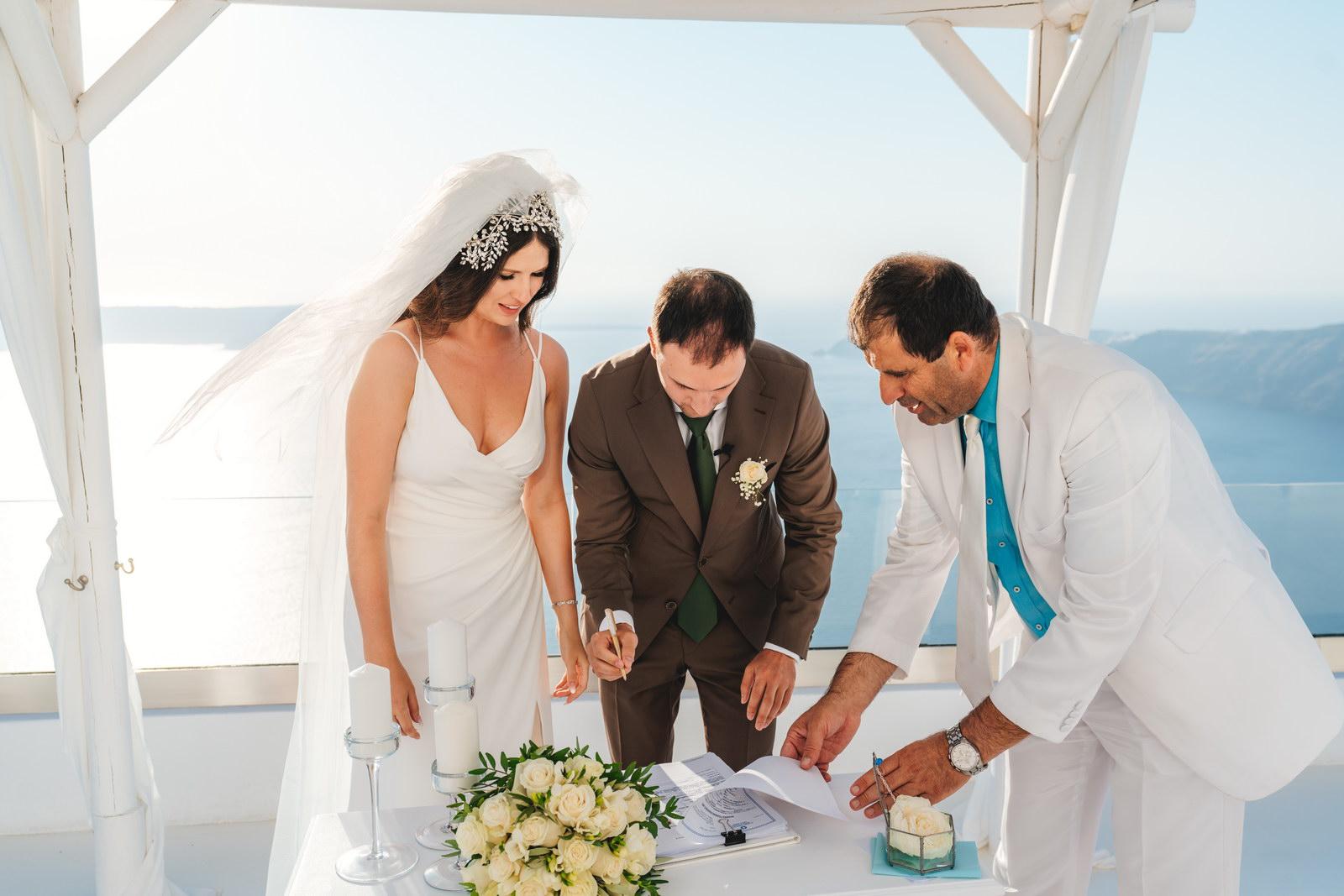 Анастасия и Сурен: свадьба на санторини, свадебное агентство Julia Veselova - Фото 26