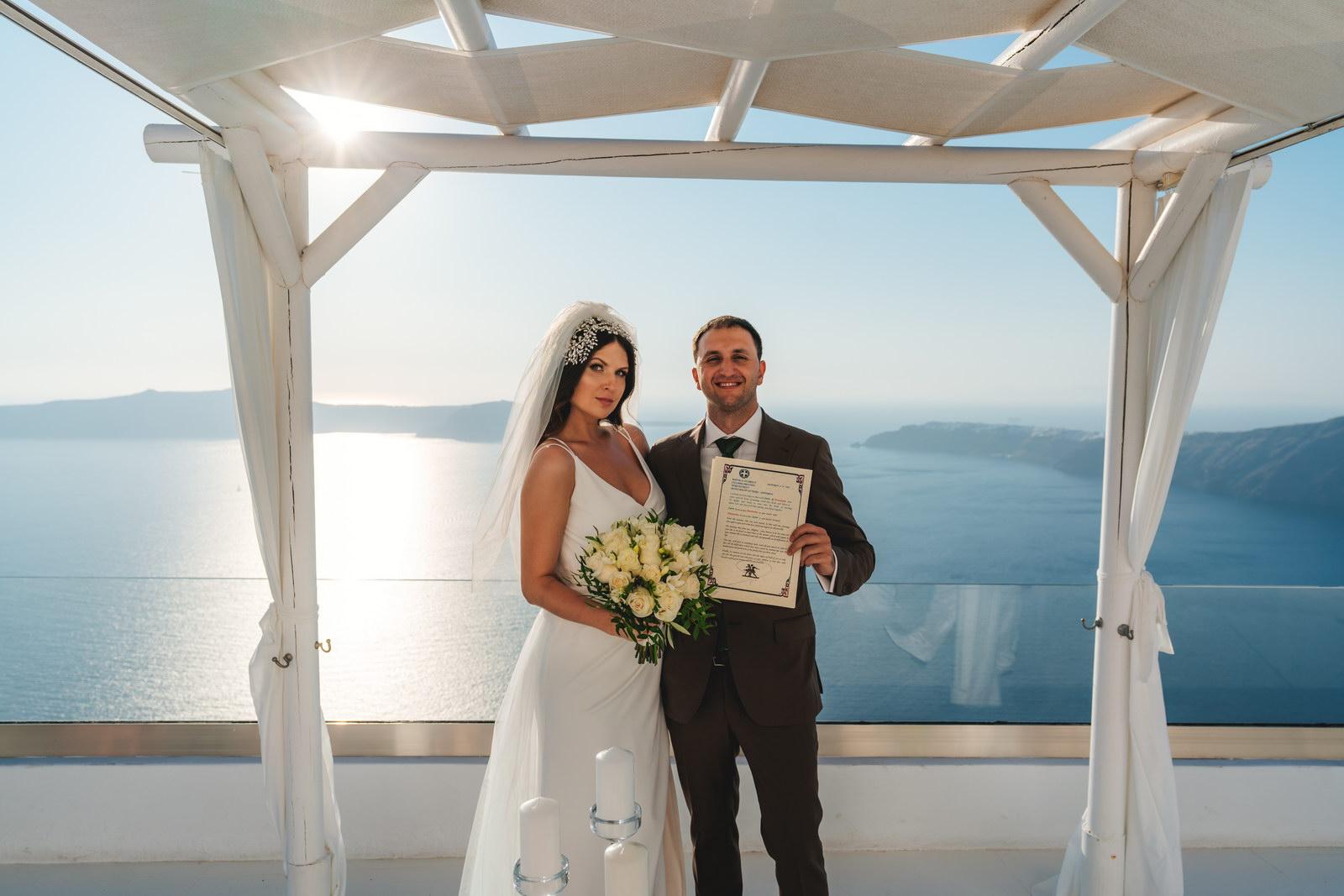 Анастасия и Сурен: свадьба на санторини, свадебное агентство Julia Veselova - Фото 27