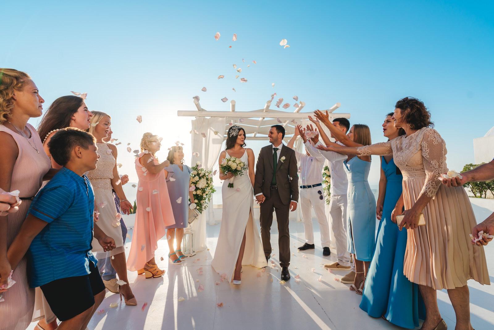 Анастасия и Сурен: свадьба на санторини, свадебное агентство Julia Veselova - Фото 33